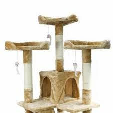 67 Cat Tree Furniture Large Tall Beige Scratcher Play House Cat Condo * Check out the picture link even more information. (This is an affiliate link). Tree Furniture, Condo Furniture, Hidden Litter Boxes, Large Cat Tree, Sheltered Housing, Relaxation Gifts, Cat Condo, Outdoor Cats, Animal House