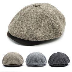 29d6fa9ad77 Men Women Retro Octagonal Hat Warm Tweed Beret Caps Comfortable Duck Hats  Casual Forward Caps is hot sale on Newchic.