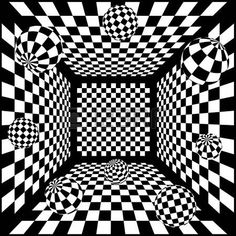 Abstract Black And White Chess Background With Balls Cliparty, Ilustracje Stockowe Oraz Ilustracje Wektorowe Royalty Free. Illusion Photos, Illusion Drawings, Illusion Art, 3d Art Drawing, Geometric Drawing, Cool Art Drawings, Abstract City, Abstract Line Art, Op Art