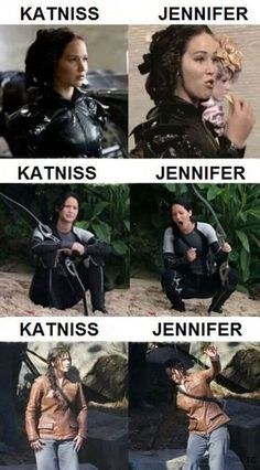 Funny pictures about The difference between Jennifer Lawrence and Katniss. Oh, and cool pics about The difference between Jennifer Lawrence and Katniss. Also, The difference between Jennifer Lawrence and Katniss. Hunger Games Memes, The Hunger Games, Hunger Games Fandom, Hunger Games Catching Fire, Hunger Games Trilogy, Catching Fire Funny, Catching Fire Quotes, Hunger Games Outfits, Hunger Games Costume