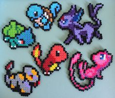 Items similar to Pokemon Perler Bead Sprites on Etsy Hama Beads Pokemon, Pearler Beads, Fuse Beads, Easy Perler Bead Patterns, Fuse Bead Patterns, Beading Patterns, Perler Bead Disney, Perler Bead Art, Minecraft Beads