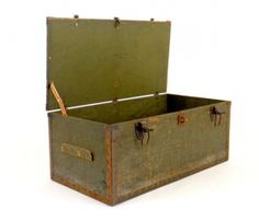 1942 Antique Trunk - I hve 2 similar trunks for sale at Lake Norman Antique Mall in Mooresville NC - Love them.