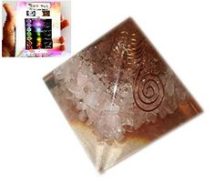 New Rose Quartz Chakra Orgone Pyramid Free Booklet Jet International Crystal Therapy Crystal Gemstones Copper Metal Mix Rare Healing Positive Energy Tetrahedron Sacred Geometry Memory Concentration Meditation Spiritual Psychic Piezo Electric Effect Business Prosperity Success Destress Anxiety Disorder Love Power Mental Peace ** Be sure to check out this awesome product.
