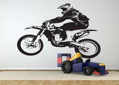 Dirt Bike Wall Decal Motocross Wall Sticker Motorsport  #motorcycle #motocross #motorsport #endurobike #bike #dirtbike #ktm #ktmracing #yamaha #suzuki #kawasaki #ducati #supercross #walldecor #wallart #walldesign #walldecal #wallsticker #homedecor #homeimprovement #bedroomdecor #bedroomideas #roomdecor #roomdecoridea