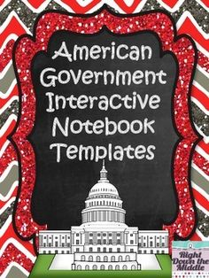 American Government Interactive Notebook...If you are teaching a unit on American Government, this is the perfect product for you! This resource comes with 12 templates, individual template directions, pictures of templates in an interactive notebook, and possible answers and information for each template. Students love using interactive notebooks! $