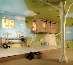 officially the most awesome kids room ever. i bet they can't ever get the neighborhood kids to leave...