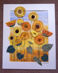 Sunflowers 3 by Christine Pettet Art Mixed media  Follow me on www.facebook.com/christinepettetart