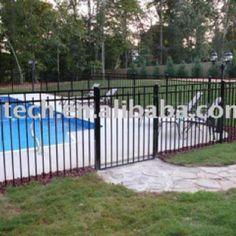 Black iron pool fencing