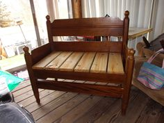 A bench made from an old Bed Frame!!