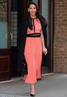 Winning look: Olivia Munn looked stylish as she stepped out to visit the Live! With Kelly ...