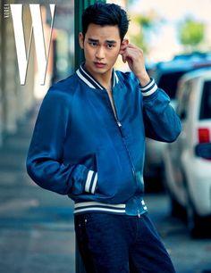 Kim Soo Hyun Dons the Summer Broody Rebel Look for July Issue of W Korea Korean Wave, Korean Star, Korean Men, Naomi Campbell, Asian Actors, Korean Actors, Kdrama, Hyun Seo, Park Hae Jin