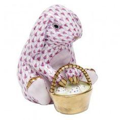 Herend Eggstravagant Rabbit - Rasphberry