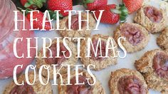 Vegan christmas cookies - My favourite vegan low-fat cookie recipe! What better way to get into the christmas spirit? They make the perfect guilt-free, sugar. My Recipes, Sweet Recipes, Cookie Recipes, Vegan Recipes, Low Fat Cookies, Healthy Christmas Cookies, Thumbprint Cookies, Food Videos, Sugar Free
