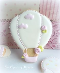 Hot air balloon~                     By conazucaryalgodon, sweet pink, white, rosebud