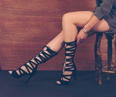 Lola Shoetique   Gladiator Heels   Black Heels   Fall Fashion
