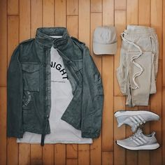 WEBSTA @ ldn2hk - Tone-y Montana. #outfitgrid @outfitgrid @dennistodisco // Jacket: #offwhite #offwhitecovirgilabloh #m65 // Tee: #midnightstudios x #bountyhunter // Cap: #pablomerch // Pants: #fearofgod x #fog x #pacsun // Sneakers: #adidasultraboost #adidas #ultraboost .