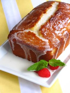 Recipe For Ina Gartens Lemon Loaf Cake - This quick, simple loaf cake has a tangy, drenched lemon flavor! #foods #recipes