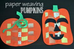 15 Spooktacular Halloween Crafts for Kids: Paper Weaving Pumpkins