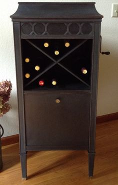 Wine Cabinet Converted Vintage Edison By Greatliving1980 On