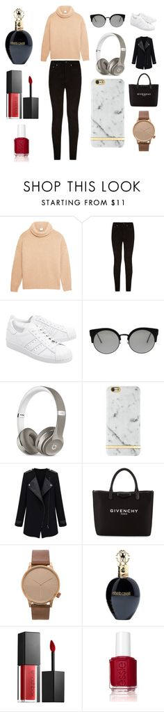 """""""Sans titre #4050"""" by merveille67120 ❤ liked on Polyvore featuring Iris & Ink, rag & bone, adidas Originals, RetroSuperFuture, Beats by Dr. Dre, Richmond & Finch, Givenchy, Komono, Roberto Cavalli and Smashbox"""