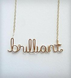 brilliant necklace// I just think of Sherlock :)