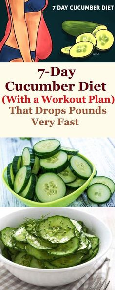 We are going to present to you 7 day cucumber diet that is extremely healthy and great for losing weight. This eating routine will definitely help you reduce weight and hydrate the body properly. Also it is great for detoxifying your body and relieves irritation of the skin.