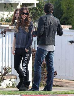 JET by John Eshaya Love Sweatshirt in Grey as Seen On Kate Beckinsale