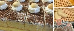 Recept Krémový broskvový zákusek s piškoty Mojito, Creme Dessert, Tiramisu, Panna Cotta, Cereal, Pudding, Banana, Fruit, Breakfast