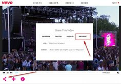 Los usuarios de Pinterest ahora pueden pinchar en sus pizarras,  vídeos de música, conciertos y shows de VEVO