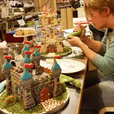 Today's 3D Gingerbread Castle class.