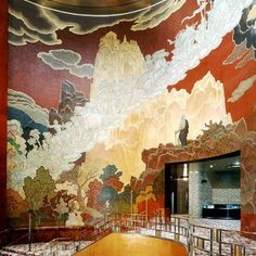Ezra Winter, The Fountain of Youth mural, Grand Foyer of Radio City Music Hall, NYC (conserved)