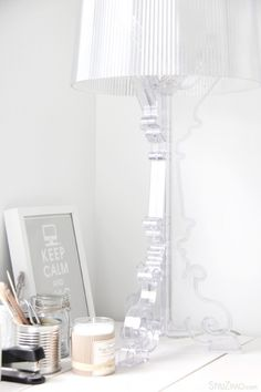 I love this lamp - Kartell Bourgie Lamp - you can buy it here : http://www.smartfurniture.com/products/Kartell-Bourgie-Lamp.html?utm_source=google_medium=productsearch_campaign=Kartell