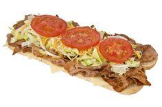 Pour les amateurs de sous-marins, essayez ce sous-marin style co-vedette comme chez Mikes. Hamburger Hotdogs, Camping Lunches, Wrap Sandwiches, Sandwich Recipes, Tex Mex, Steak, Dessert Recipes, Appetizers, Vegetarian