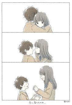 art, japan, and kawaii image Anime Love, Cute Anime Pics, Cute Anime Couples, Kawaii Anime, Kawaii Chibi, Kawaii Art, Manga Anime, Anime Art, Love Illustration