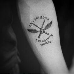 Tatouage Harry Potter quidditch gryffondor