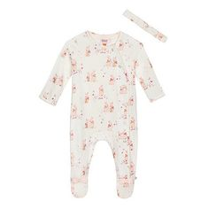7bf75d2fd7f4 Baker by Ted Baker Baby girls  cream bunny print sleepsuit and headband set