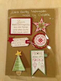 """Heikes Kreativseite: Card Candys zum Thema """" Weihnachten """" Christmas Tag, Christmas Ornaments, Candy Cards, December Daily, Punch Art, Craft Tutorials, Craft Fairs, Gift Tags, Presents"""