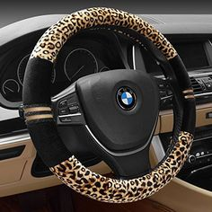 FULL WERK Luxury Leopard Print Fashionable Plush Car Steering Wheel Cover, Universal Fit, Keep Warm for Car SUV (Beige Black) -- You can get additional details at the image link. (This is an affiliate link) Car Interior Decor, Interior Accessories, Accessories Online, Car Steering Wheel Cover, Steering Wheels, Car Accessories For Girls, Vehicle Accessories, Cute Cars, Car Car