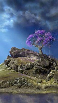 Flourishing - lone tree