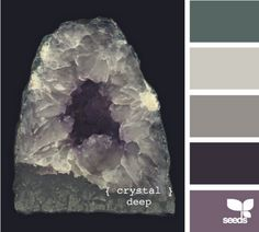 """Crystal Deep"" color palette by Design Seeds Bathroom Color Schemes, Colour Schemes, Color Combos, Color Patterns, Bathroom Colours, Colour Palettes, Wall Colors, House Colors, Renovation Facade"