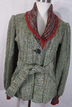 Georges Bibas Paris jacket 70's knit knit by AmazingTasteVintage