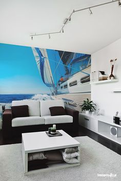 Yacht wallpaper by Fototapeta4u.pl