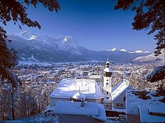 Garmisch-Partenkirchen, Germany is a town close to the highest mountain peak in Germany. Our first trip there was in November 1984, and it was snowing!