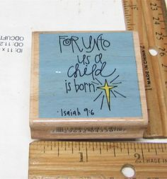 FOR UNTO US A CHILD IS BORN ISIAH 9:6 BY STUDIO G RUBBER STAMP #STUDIOG #RUBBERSTAMP