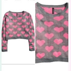 Cropped heart shaped sweater Super chic H&M Sweaters