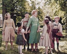 Maria with the children from the Sound of Music