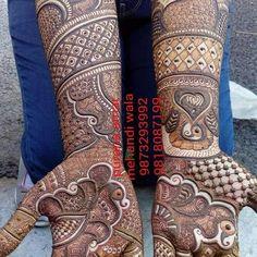 Bridal Mehandi Designs by Satnam Mehandi Art For Booking, Call us +91 8684848475 #henna #mehndi #whitehenna #wakeupandmakeup #zentangle #boho #monakattan #flowers #hennadesign #tattoo #girlyhenna #art #inspo #hennainspo #hennaart #photooftheday #mendhi #hennaartist #hennatattoo #naturalhenna #bridalhenna #7enna #doodle #mandala #beauty #love #featherlove #pakistanibride