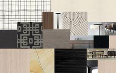 atrio restaurant seoul - Google Search Commercial Interior Design, Commercial Interiors, Material Board, Vintage Cafe, Colour Schemes, Ps, Modern Design, Presentation, Carpet