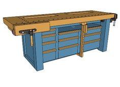Workbench Workshop Storage, Home Workshop, Garage Workshop, Tool Storage, Workshop Ideas, Garage House, Diy Garage, Woodworking Bench, Woodworking Shop