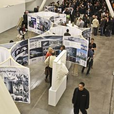 Curved exhibition booths #Exhibition #Signage: